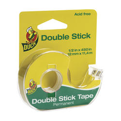 "Duck 0.5"" x 450"" Permanent Double Stick Tape"