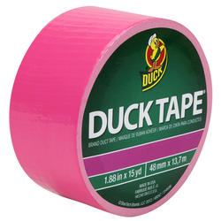 "Duck Tape 1.88"" x 15-yd Neon Pink Duct Tape"