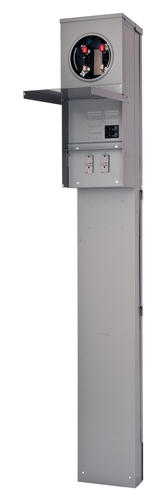 Pedestal Electrical Outlets : Talon temporary power outlet panel pedestal by siemens