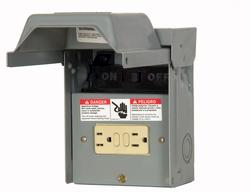 Siemens WN2060GFCI, 60A, non-fused, AC Disconnect, steel, with 15A GFI