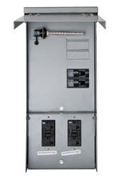 Talon Temporary Power Outlet Panel by Siemens with two 20 Amp duplex receptacles installed, unmetered.