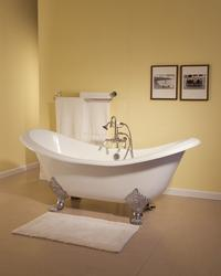 The Crescent 6' Cast Iron Double-Ended Slipper Tub