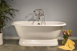 The Peninsula 5' Cast Iron Dual Tub without Faucet Holes