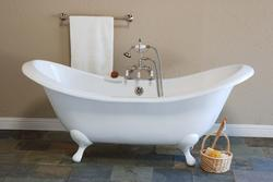 The Moon 6' Cast Iron Peg Leg Double-Ended Slipper Tub
