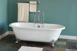 The Cloud 5-1/2' Cast Iron Dual Tub w/Deck-Mounted Faucet Holes