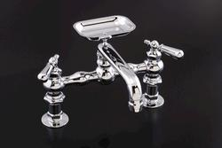 Wall-Mount Kitchen Faucet w/Soapdish