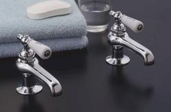 Faucet Set with Porcelain Lever Handles