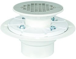Round PVC Shower Pan Drain with Stainless Steel Strainer