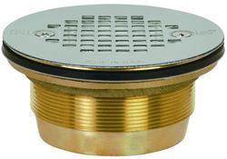 """2"""" Cast Brass No-Caulk Shower Module Drain"""