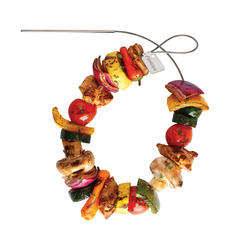 Fire Wire Stainless Steel Flexible Grilling Skewers. Set of 2.