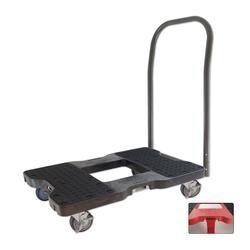 Snap-Loc® Black E-Track Push Cart Dolly - 1,500 lb. Capacity & Optional Strap Attachment