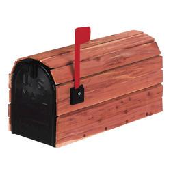 Gibraltar Industries® Standard Size Galvanized Steel Mailbox - Cedar Wrap