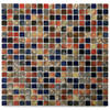 "Solistone Calypso 12"" x 12"" Terrene Glazed Porcelain Mosaic (10 sq.ft/pkg)"