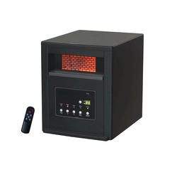 Life Smart Black Plastic With Gray Trim Four Quartz Element Portable Infrared Heater