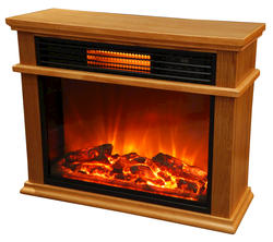 "Life Smart Infrared Golden Oak 31"" Electric Fireplace"