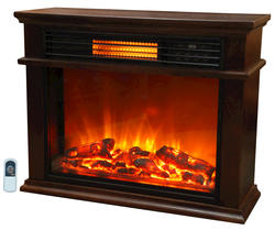 """Life Smart Infrared Cocoa 31"""" Electric Fireplace"""