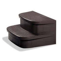 LifeSmart Mahogany Spa Steps for Mahogany Cabinet Spas