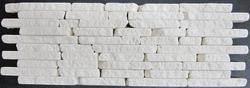 "Natural Choice Splitface Tumbled Travertine Mosaic Wall Tile 4"" X 12"""