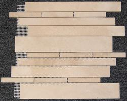 "Natural Choice Travertine Mosaic Wall Tile Exclusive Linear 12"" x 12"" Honed"