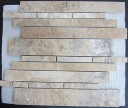 "Natural Choice Travertine Mosaic Wall Tile Exclusive Ariete 12"" x 12"" Honed"