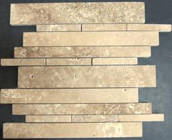 "Natural Choice Travertine Mosaic Wall Tile Exclusive Noce 12"" x 12"" Honed"