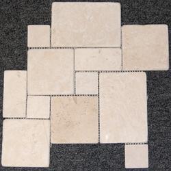 "Natural Choice Tumbled Travertine Pattern Mosaic Floor or Wall Tile 12"" x 15"""