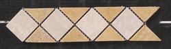 "Natural Choice Tumbled Marble Tile Border 3""x12"""