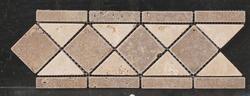 "Natural Choice Tumbled Travertine Tile Border  4""x12"""