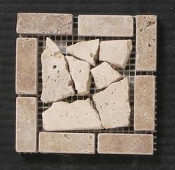 """Natural Choice Travertine Tile Palladian Corner 4""""x4"""""""