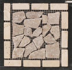 """Natural Choice Travertine Tile Palladian Corner 6""""x6"""""""