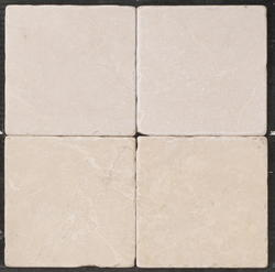 "Natural Choice Tumbled Marble Floor or Wall Tile 6""x6"""