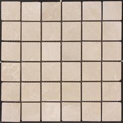 "Natural Choice Tumbled Marble Mosaic Floor or Wall Tile  2""x2"""