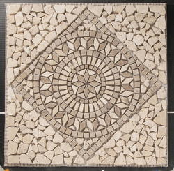 "Natural Choice Square Medallion Tumbled Travertine 18""x18"""