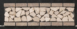"Natural Choice Tumbled Travertine Palledian Border 4""x12"""