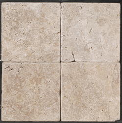"""Natural Choice Tumbled Travertine Floor or Wall Tile 6""""x6"""""""