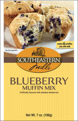 Southeastern Mills Blueberry Muffin Mix - 7 oz.