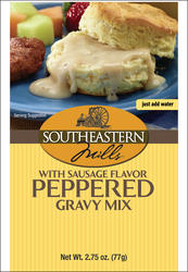 Southeastern Mills Old Fashioned Peppered Gravy Mix with Sausage Flavor - 2.75 oz.