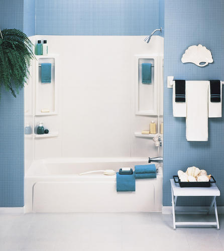 vantage 60 quot x 31 quot 5 piece bathtub wall set at menards 174