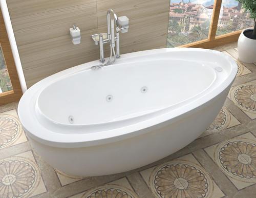 stream 38 x 71 freestanding whirlpool jetted bathtub at