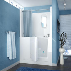 "Meditub 27"" x47"" Right Drain White Hydrotherapy Walk-In Bathtub"