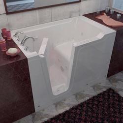 "Meditub 36"" x60"" Left Drain White Hydrotherapy & Air Therapy Walk-In Bathtub"