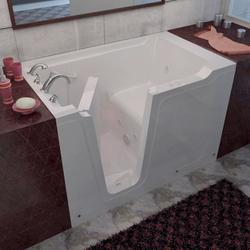 "Meditub 36"" x60"" Left Drain White Hydrotherapy Jetted Walk-In Bathtub"