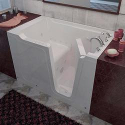 "Meditub 36"" x60"" Right Drain White Hydrotherapy & Air Therapy Walk-In Bathtub"