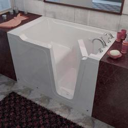 "Meditub 36"" x60"" Right Drain White Soaker Walk-In Bathtub"
