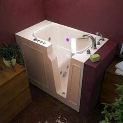 """Meditub 26"""" x46"""" Right Drain Biscuit Hydrotherapy jetted Walk-In Bathtub"""