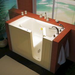 "Meditub 26"" x53"" Right Drain Biscuit Soaker Walk-In Bathtub"