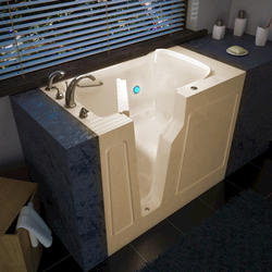 "Meditub 29"" x52"" Left Drain Biscuit Soaker Walk-In Bathtub"