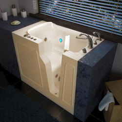 """Meditub 29"""" x52"""" Right Drain Biscuit Hydrotherapy jetted Walk-In Bathtub"""