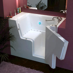 "Meditub 29"" x53"" Right Drain White Hydrotherapy & Air Therapy Wheelchair Accessible Bathtub"