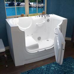 """Meditub 30"""" x60"""" Right Drain White Air Therapy Wheelchair Accessible Bathtub"""